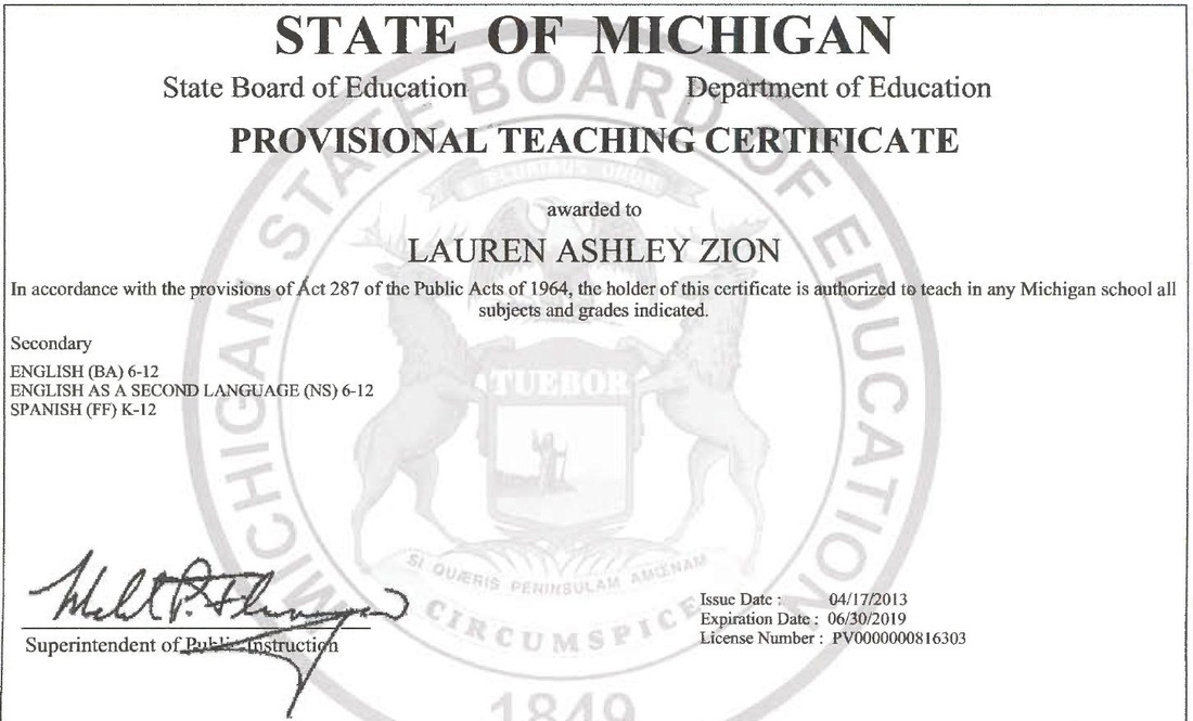 Education Lauren A Zion